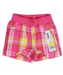 Jumping Beans Pink/Yellow Plaid Girls Shorts Baby Girl