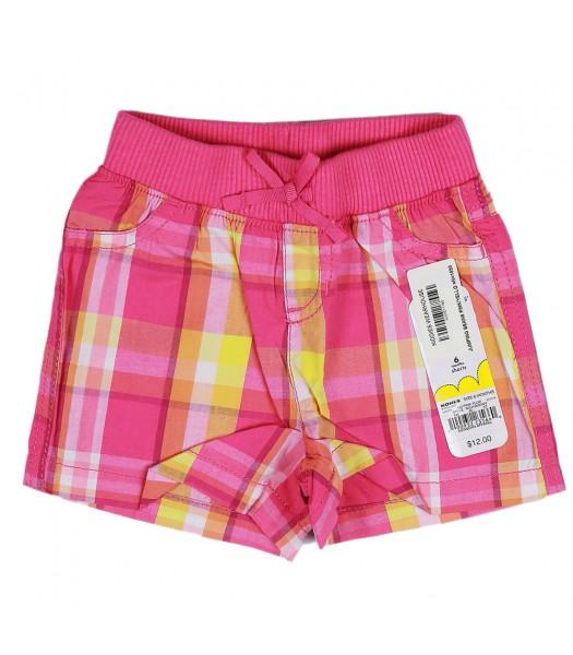 Jumping Beans Pink/Yellow Plaid Girls Shorts
