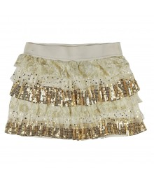 Sonoma Gold Embellished Lace Tiered Girls Skirt