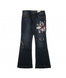 Total Girls Blue Skinny Flare Girls Skinny Jeans Wt Seqd Uk Flag