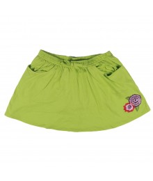 Crazy 8 Lime Green Flower Knit Skirt
