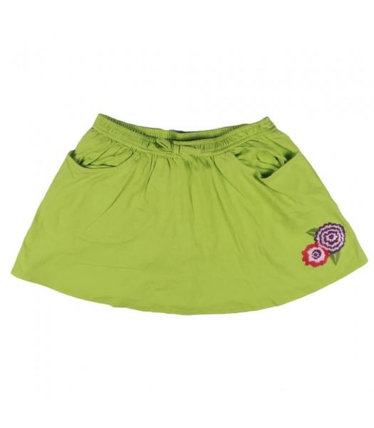 Crazy 8 Lime Green Flower Knit Skirt
