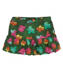 Crazy 8 Green Multi Floral Skort