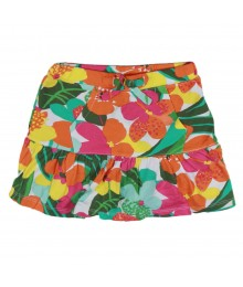 Crazy 8 Fush/Yellow/Green Floral Girls Skort