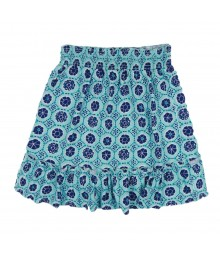 Crazy 8 Turq/Navy Print Knit Skirt Little Girl