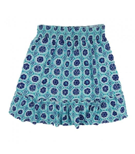 Crazy 8 Turq/Navy Print Knit Skirt