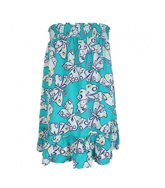 Crazy 8 Green Butterfly Print Knit Skirt