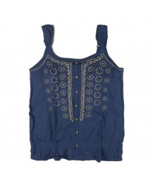Mudd Blue Peasant Girls Tank Top Wt Elastic Waist