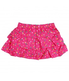 Jumping Beans Pink Tiered Multi Squared Skort