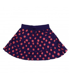 Gymboree Purple  with Pink Polka Dot Tiered Skort