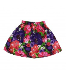Gymboree Multi Watercolor Flower Print Skirt