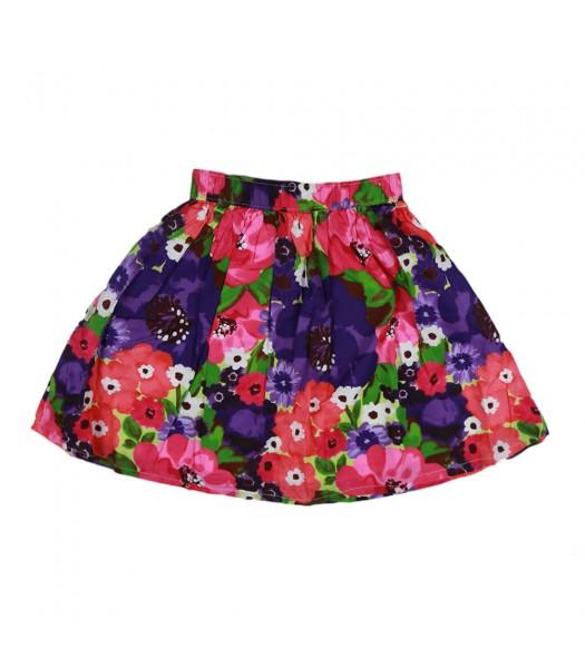 Gymboree Multi Watercolor Flower Print Skirt