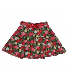 Gymboree Olive Grn Skirt Wt Pink Rose Print N Under Pant Little Girl