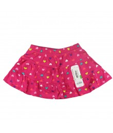 Jumping Beans Pink Wt Multi Heart Tiered Skort