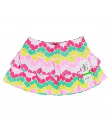 Jumping Beans Multi Heart Tiered Skort Little Girl