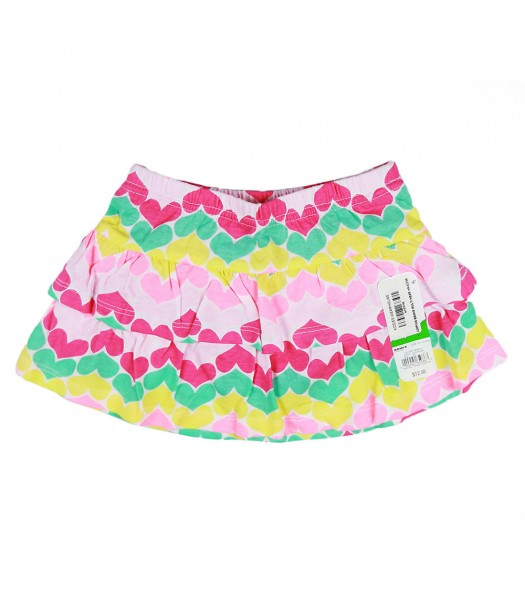 Jumping Beans Multi Heart Tiered Skort