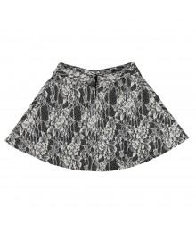 Iz Amy Byer Cream Lace Floral Short Skirt Big Girl