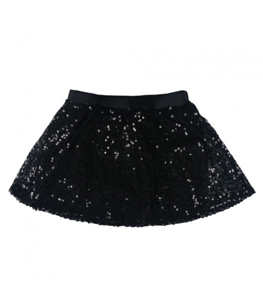 Candies Black Sequince On Lace Skirt