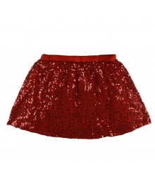 Candies Red Sequince On Lace Skirt