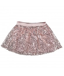 Candies Peach Sequince On Lace Skirt Little Girl