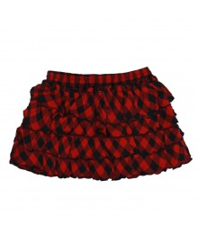 Arizona Red/Black Plaid Tiered Skirt