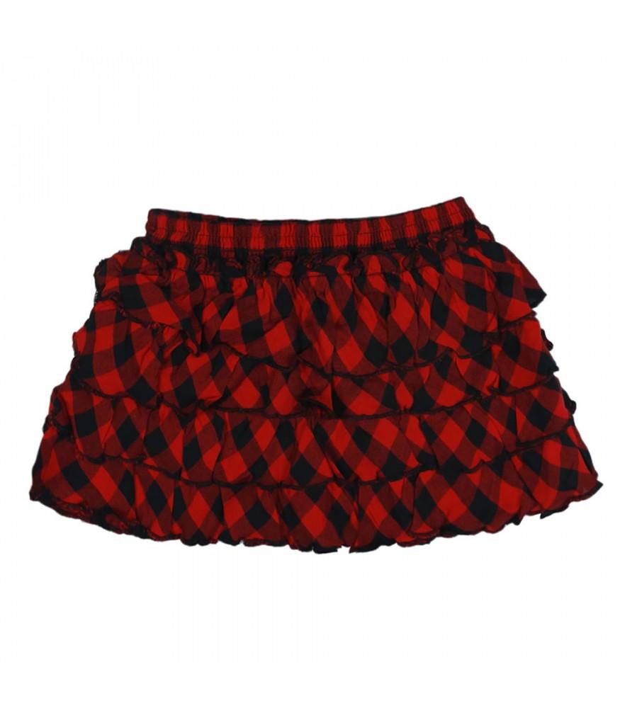 9159130f90 Arizona Red/Black Plaid Tiered Skirt. ₦5,750.00 NGN