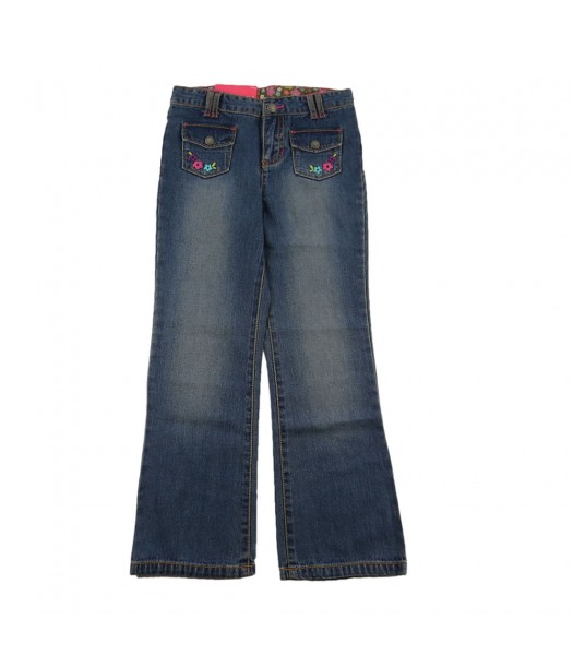 Carters Embroidered Patch Pocket Boocut Jeans