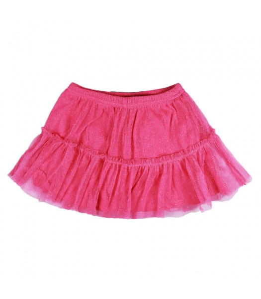 Jumping Beans Pink Shimmer Mesh Tiered Skort