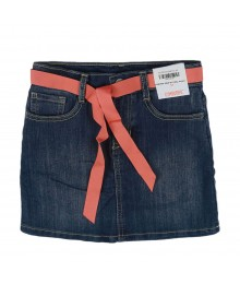 Gymboree  Denim Wt Coral Belt Pocket Skort