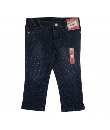 Gymboree Slim/Plus Blue Polkadot Capri Jeans Little Girl