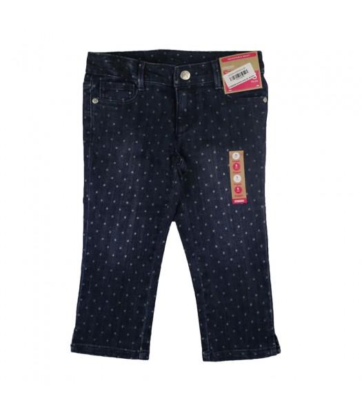 Gymboree Slim/Plus Blue Polkadot Capri Jeans