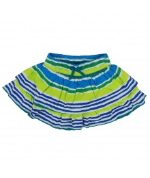 Crazy 8 Green Multi Stripe Ruffle Tiered Skort