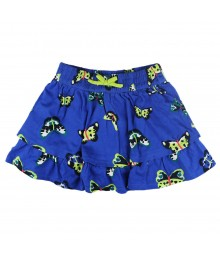 Crazy 8 Blue Buttefly Ruffe Tiered Skort Little Girl
