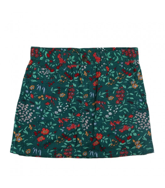 Crazy 8 Green Floral Wildflower Skirt