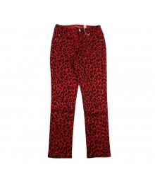 Justice Red Leopard Print Super Skinny Jeans