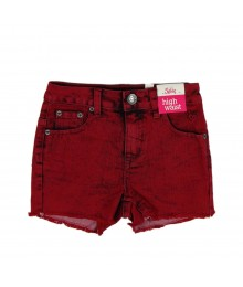 Justice Wine High Waisted Denim Girls Short