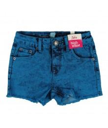 Justice Teal Girls Bum High Waist Shorts Big Girl