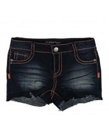 Cherokee Blue Denim Girls Bum Shorts Wt Pink Embrodery