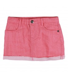 Crazy 8 Red Chambray Turn Up Skirt