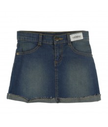 Crazy 8 Blue Denim Turn Up Skirt
