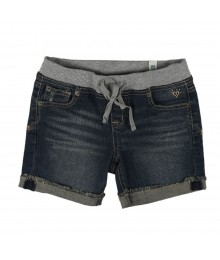Justice Jeans Turnup  Bum Shorts Wt Banded Waist
