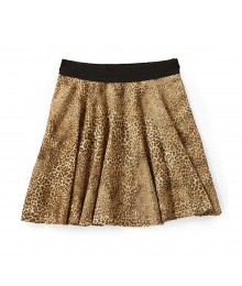 Code Bleu Cheetah Print Skater Skirt Big Girl