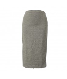 Decree Grey  Pencil Knit Mid-Skirts