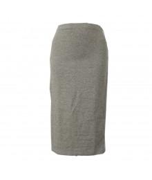 Decree Grey  Pencil Knit Mid-Skirts