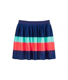 Tommy Hilfiger Navy Pleated Skirt Fush/Mint Color Block