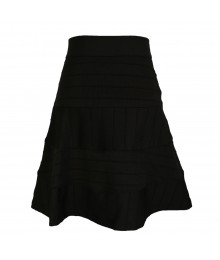 Xoxo Black Banded Skirt Juniors