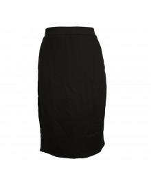 Olsenboye Black Pencil Skirt Wt Lace Panel