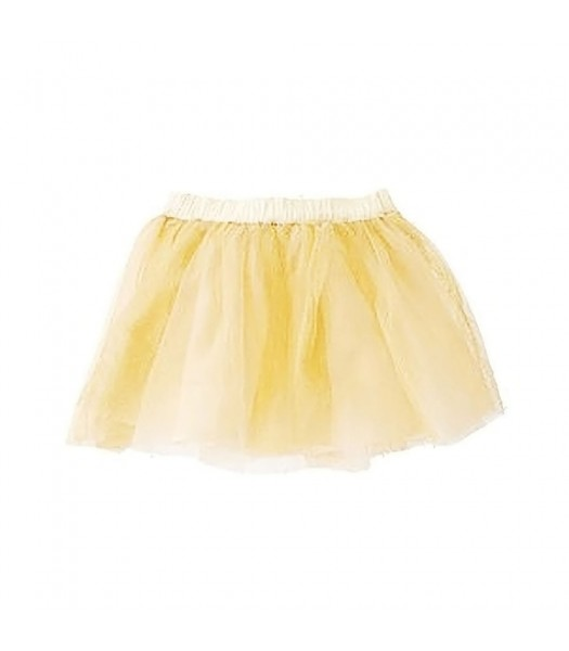 Crazy8 Gold Tulle Skirt Wt Gliter Lace Overlay
