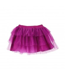 Crazy8 Neon Purple Tired Tulle Skirt Wt Lace Overlay Little Girl