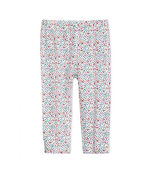 First Impression White Wt Multi Confetti Print Leggings